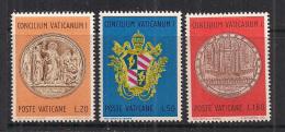 VATICANO     1970       CENTENARIO CONCILIO ECUMENICO      SASS. 484-486      MNH    XF - Vaticano
