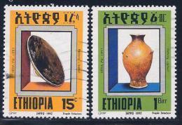 Ethiopia, Scott # 1335.1337 Used Pottery, 1992 - Ethiopia