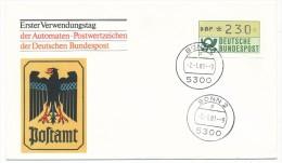 ALLEMAGNE - 20 Documents Avec étiquettes De Distributeurs - 1981 - à étudier - ATM - Frama (Verschlussmarken)