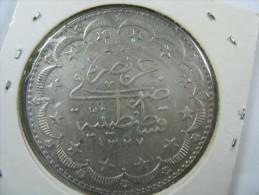 TURKEY OTTOMAN 20 KURUSH SILVER  1327/9 1917  WEIGHT 24.1 GRAMS DIAMETER 37 MM  LOT 7 - Turquie