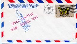 SPACE - USA - 1977 - SPACE SHUTTLE WIND TUNNEL TEST  COVER  WITH  MOFFETT FEILD    POSTMARK * - Stati Uniti