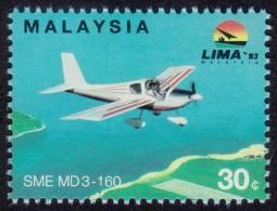 MALAYSIA 1993 LIMA 30c SME MD3-160 Airplane MNH [RM478] - Malaysia (1964-...)