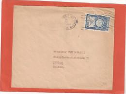 UNESCO 10F N° 771 SEUL SUR LETTRE AU TARIF  PARIS 20/2/47 POUR SUISSE     TDCE002 - Marcofilia (sobres)