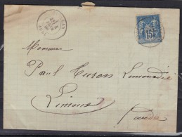 Quillan (Aude) Pour Limoux  4 Février 1886, N° 90 - 1877-1920: Semi Modern Period