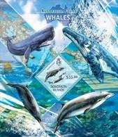 slm13414b Solomon Is. 2013 Australian Fauna Whales s/s