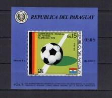Paraguay 1974 Football Soccer World Cup S/s MNH - Coppa Del Mondo