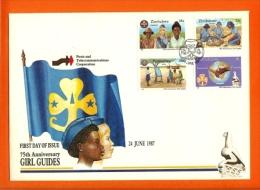 ZIMBABWE, 1987, Mint FDC, Girl Guides,  Nrs. 364-367 , F740 - Zimbabwe (1980-...)