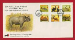 ZIMBABWE, 1990, Mint FDC, Definitives,   Nrs. 418-435, F2431 - Zimbabwe (1980-...)