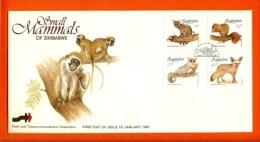 ZIMBABWE, 1991, Mint FDC, Small  Mammals,   Nrs. 450-453, F539 - Zimbabwe (1980-...)