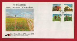 ZIMBABWE, 1995, Mint FDC, Definitives,  Nrs. 538-553, F2440 - Zimbabwe (1980-...)