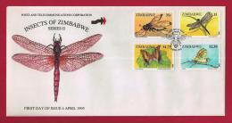 ZIMBABWE, 1995, Mint FDC, Insects Of Zimbabwe,  Nrs. 554-557, F746 - Zimbabwe (1980-...)