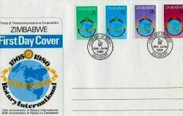 ZIMBABWE, 1980, Mint FDC, Rotary International,  Nrs. 242-245, , F601 - Zimbabwe (1980-...)