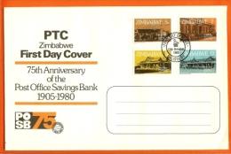 ZIMBABWE, 1980, Mint FDC, Postal Savings Bank Block 6,  Nrs. 247-250, , F1311 - Zimbabwe (1980-...)