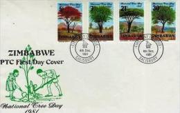 ZIMBABWE, 1981, Mint FDC, Trees,  Nrs. 255-258, , F1030 - Zimbabwe (1980-...)
