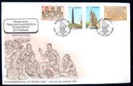 ZIMBABWE, 1984, Mint FDC, Memorial Day,  Nrs. 293-296, , F656 - Zimbabwe (1980-...)