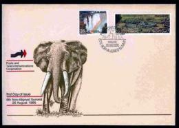 ZIMBABWE, 1986, Mint FDC, Blockfree States,  Nrs. 348-349 , F678 - Zimbabwe (1980-...)