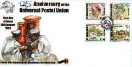 ZIMBABWE, 1999, Mint FDC, U.P.U.. , Nrs. 631-634, F729 - Zimbabwe (1980-...)