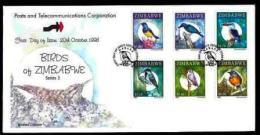 ZIMBABWE, 1998, Mint FDC, Birds Of Zimbabwe.. , Nrs. 625-630, F749 - Zimbabwe (1980-...)