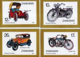 ZIMBABWE, 1986, Mint Maxi Cards, Motorcycles & Automobiles , Nrs. 350-355, F534 - Zimbabwe (1980-...)