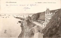 CANCALE (35) - Hôtel/Restaurant : Le Môle, Le Port, L'Hôtel Du Guesclin. Sur La Plage, Linge Au Sèchage. CPA Précurseurs - Cancale
