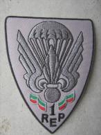 INSIGNE TISSUS PATCH PARACHUTISTES LEGION ETRANGERE 1° REP  ETAT EXCELLENT - Army