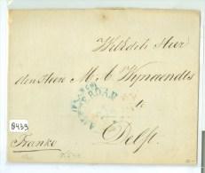 E.o. BRIEFOMSLAG Uit 1840 Van AMSTERDAM Naar DELFT * K54c  (8439) - Paesi Bassi
