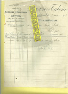 70 - Haute-saône - FONTAINE-LES-LUXEUIL - Facture BARBIER & GUNTHER - Papeterie Et Tuberie - 1919 - France