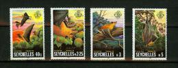Seychelles 1981,4V,set,bats,vleermui Zen,fledermäuse,chauves-s Ouris,murciélagos,pipistr Elli,MH/Ongebruikt( A1273) - Vleermuizen