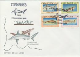 cvFDC09 Cabo Verde 1994 Fish Shark FDC