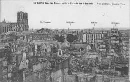 Reims Dans Les Ruines Après La Retraite Des Allemands Vue Générale Bon Etat - Guerre 1914-18