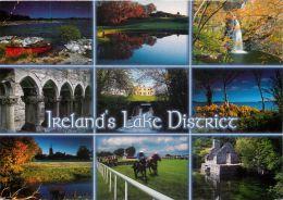 Lake District, Co Mayo, Ireland Eire Postcard Used Posted To UK 2007 Stamp - Mayo