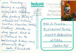 Sheep Traffic Jam, Ireland Eire Postcard Used Posted To UK 2001 GB Nice Stamp - Other