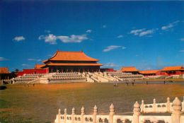 Hall Of Supreme Harmony, Beijing, China Postcard Used Posted To UK 1998 - Chine