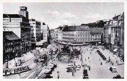 ZAGREB Jelacicev Trg - Stadtplatz Strassenbahnen Autos, Forokarte 1935? - Jugoslawien