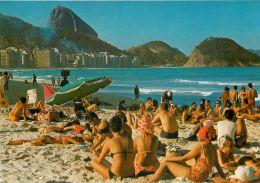 Praia De Copacabana, Rio De Janeiro, Brazil Brasil Postcard - Rio De Janeiro