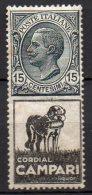 1924 Regno Pubblicitario Timbrato N. 3 Cordial Campari Integro MNH** Centrato - Publicité