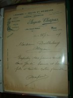 Facture NICE : A.CHAPUS, Legules, Fruits - 1927 ............. BL-25 - France
