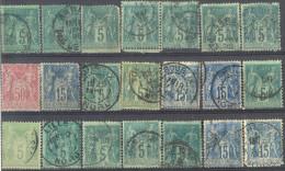 _3L-582: Restje :21 Zegels.. Enkele Met Kleine Gebreken.. Om Verder Uit Te Zoeken ... - 1876-1898 Sage (Type II)