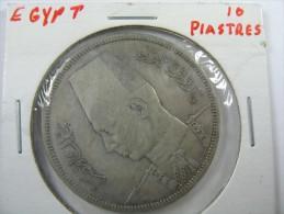 EGYPT 10  PIASTRES 1939  SILVER . LOT 7 - Egypte