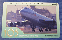 Telefonkarte Asien Japan Air Lines JAL Flugzeug Telephone Card 1992 NTT - Avions