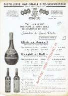 Tarif  Illustré 1951 De La DISTILLERIE NATIONALE PITZ-SCHWEITZER à ETTELBRUCK : Elixir De Mondorf, Maagbitter Buff - Luxembourg