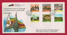 ZIMBABWE, 1990, Mint FDC,Achievements, 436-441 - Zimbabwe (1980-...)