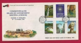 ZIMBABWE, 1991, Mint FDC, Commonwealth Meeting, 460-465 - Zimbabwe (1980-...)