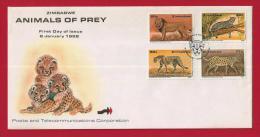 ZIMBABWE, 1992, Mint FDC, Animals Of Prey, 488-493 - Zimbabwe (1980-...)