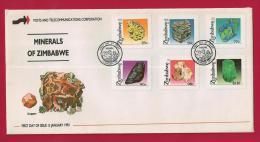 ZIMBABWE, 1993, Mint FDC,Minerals Of Zimbabwe, 494-499 - Zimbabwe (1980-...)