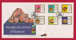 ZIMBABWE, 1993, Mint FDC, Household Pottery,504-509 - Zimbabwe (1980-...)