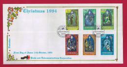 ZIMBABWE, 1994, Mint FDC, Christmas,  532-537 - Zimbabwe (1980-...)
