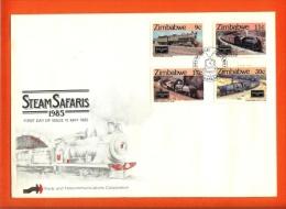 ZIMBABWE, 1985, Mint FDC,Locomotives,  Nr.303-306 F736 - Zimbabwe (1980-...)