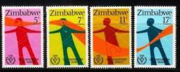 ZIMBABWE 1981, Mint Never Hinged Stamps, Disabled People, Nrs. 251-254, #5074 - Zimbabwe (1980-...)