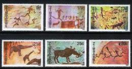 ZIMBABWE 1982, Mint Never Hinged Stamps, Cave Paintings, Nrs. 259-264, #5076 - Zimbabwe (1980-...)